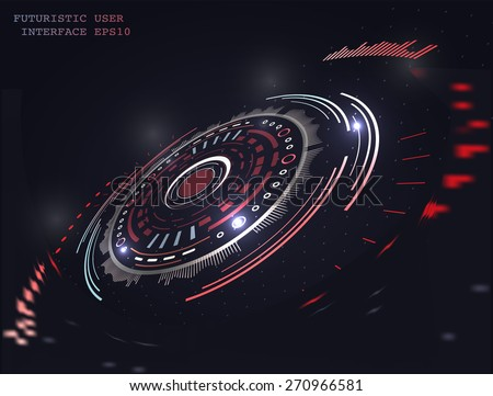 Abstract futuristic vector background - stock vector