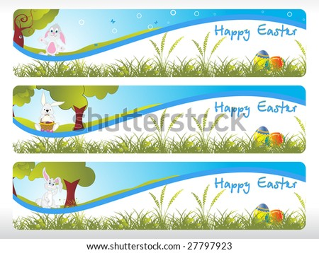 abstract garden pattern easter banner