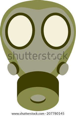 Abstract gas mask vector illustration - stock vector