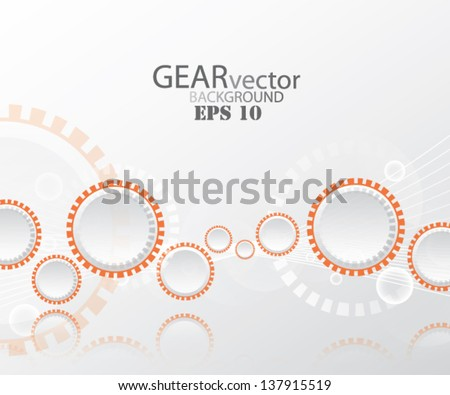 Abstract gear background - stock vector