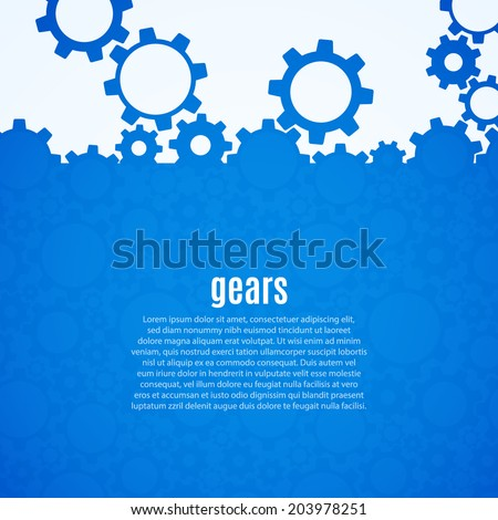 Abstract gear background. Vector illustration - stock vector