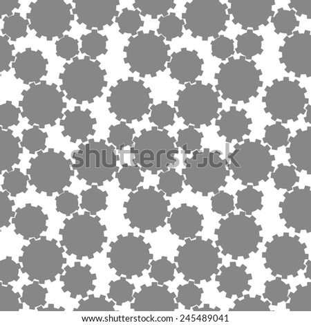 Abstract gear wheels seamless pattern. Vector design template - stock vector