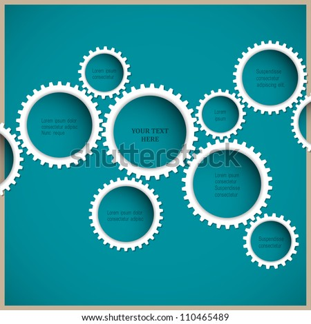 Abstract gear wheels. Vector design template - stock vector