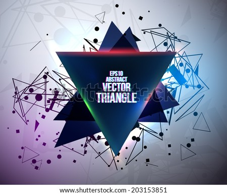 Triangle Light Effects Electronic Music Design Stock Vector ...
