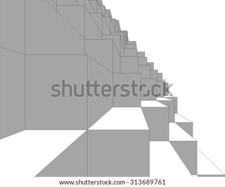 Abstract geometric background. Abstract architecture