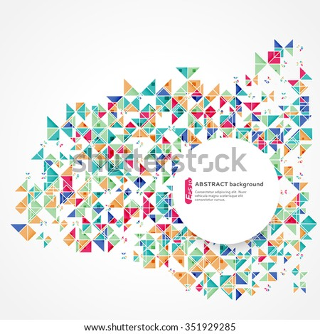 Abstract geometric background. Can be used to design, website layout,  covers, textiles and packaging
