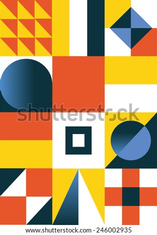Abstract geometric background. Colorful - stock vector