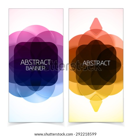 Abstract geometric background. Colorful shapes on white.  - stock vector