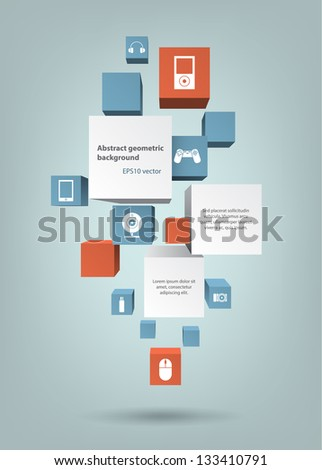 Abstract geometric background. EPS10 vector. - stock vector