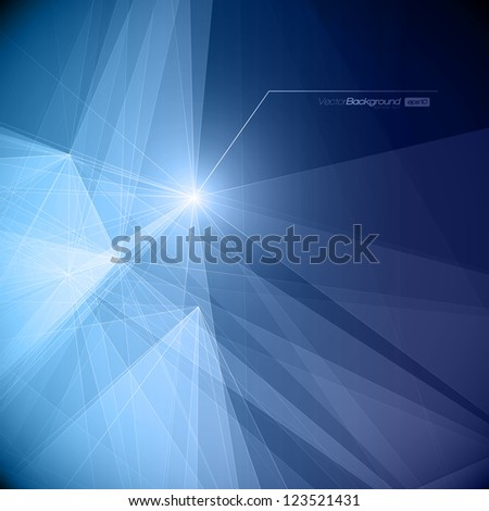 Abstract Geometric Background for Design   EPS10 Illustration - stock vector