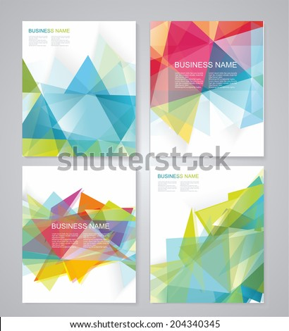 Abstract geometric background for use in design. Vector - stock vector