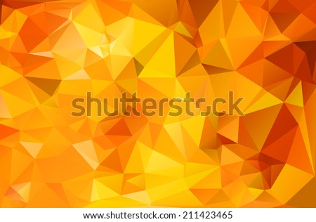 Abstract geometric background in vibrant fall colors. - stock vector