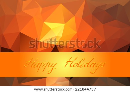 Abstract geometric background of triangular polygons with lettering. Eps 10. Vector illustration. - stock vector