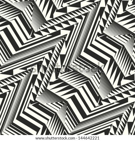 Abstract geometric background. Seamless pattern. Vector. - stock vector