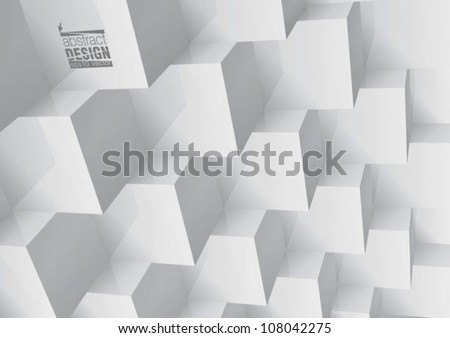Abstract geometric background stacked cube, you can change colors - stock vector