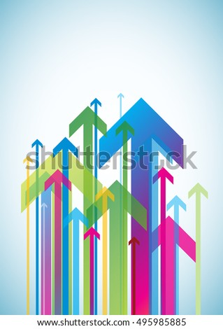 Abstract geometric background. The composition of the arrows