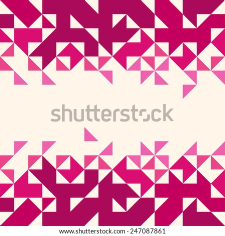 Abstract, geometric background, triangle and square - stock vector