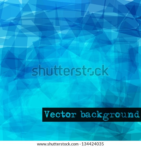 Abstract geometric background. Vector EPS 10. - stock vector