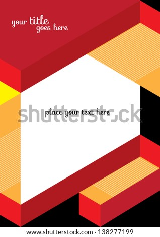 Abstract Geometric Background / Vector Illustration / Book Cover / Background Design / Graphics / Layout / Content Page - stock vector