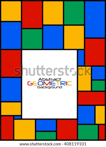 Abstract Geometric Background Vector Illustration EPS10 - stock vector