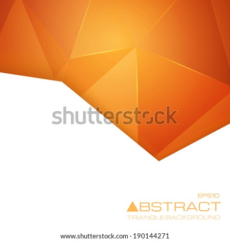 Abstract geometric background. Vector illustration for your technology presentations.  - stock vector