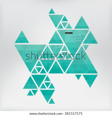 Abstract geometric background.Vector triangle background. - stock vector