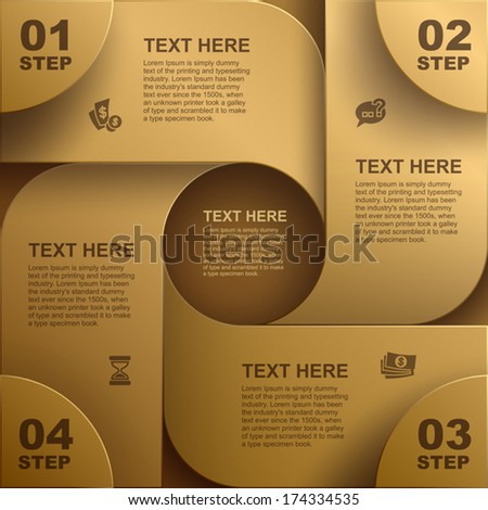Abstract geometric background, Vector web element design, website - stock vector
