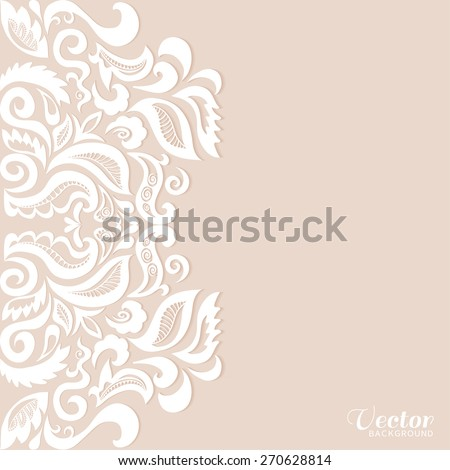 Abstract geometric background wedding invitation greeting stock abstract geometric background wedding invitation or greeting card design with lace pattern beautiful luxury stopboris Choice Image