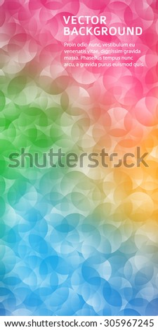 Abstract geometric background with circle mesh. Design elements Vector illustration EPS 10 for booklet layout page, leaflet template, vertical banner - stock vector