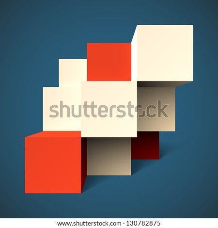 Abstract geometric background with cubes. EPS10 vector. - stock vector