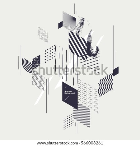 Abstract geometric background with decorative rectangles