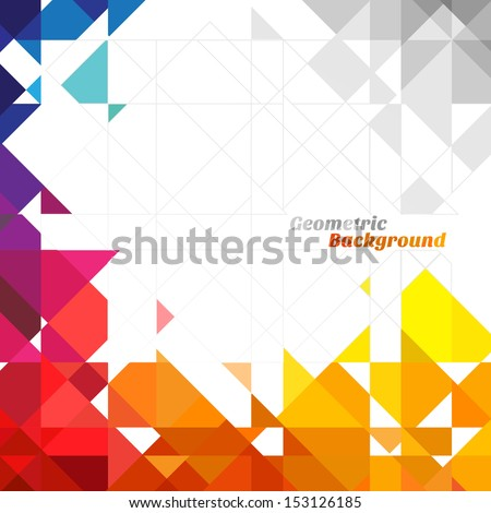 Abstract geometric background with place for your text. - stock vector