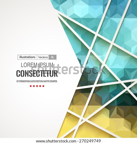 Abstract geometric background with polygons. Info graphics composition with geometric shapes.Retro label design. Vector illustration for business presentation - stock vector