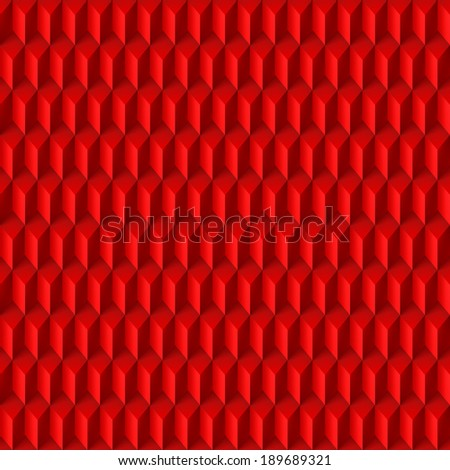 Abstract geometric background with rhombs in red - stock vector