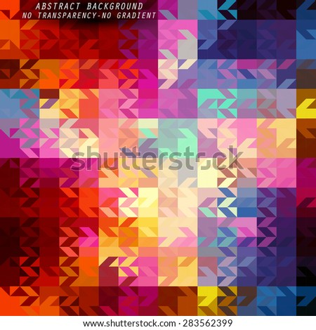 Abstract geometric background with soft color tones - stock vector