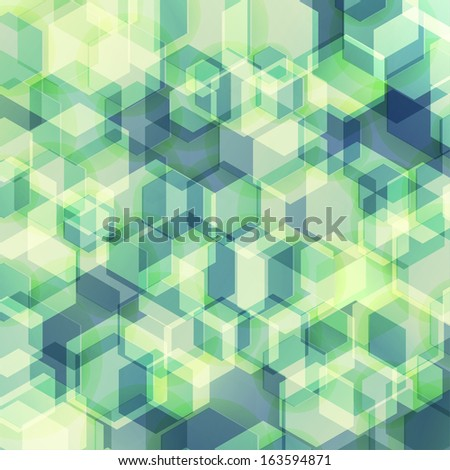 abstract geometric background with soft retro colors - stock vector