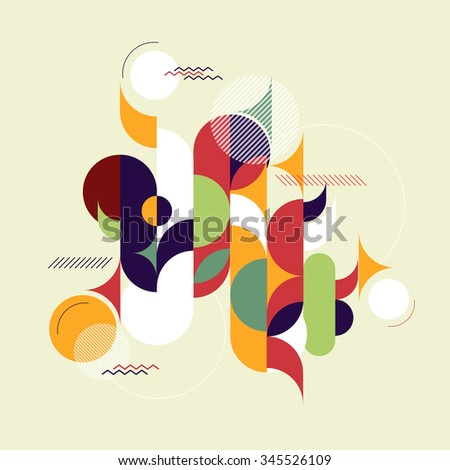 Abstract geometric background with thin lines. Hipster, ethnic, modern. Vector illustration. - stock vector