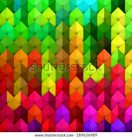 Abstract geometric background with vibrant color tones - stock vector