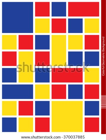 Abstract geometric Background with white frame. - stock vector