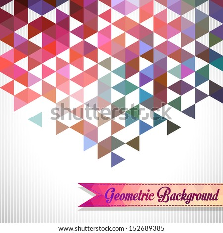 Abstract, geometric backgrounds.