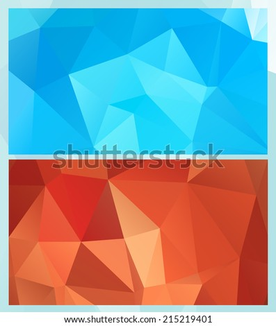 Abstract geometric backgrounds of triangular polygons. Eps 10. Vector set.  - stock vector