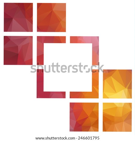 Abstract Geometric backgrounds. Polygonal vector design. - stock vector