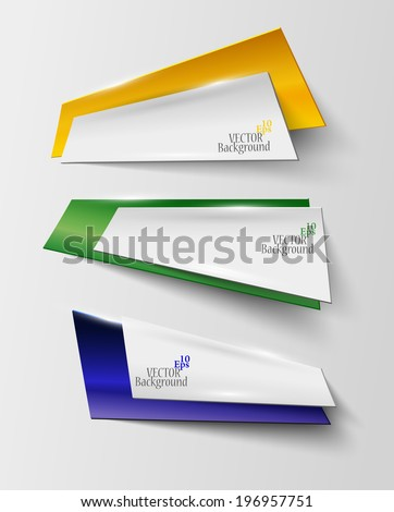 abstract geometric banner in Brazil color - vector illustration - stock vector