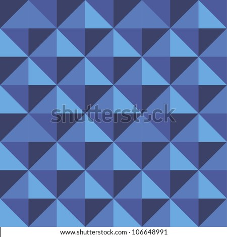 Abstract geometric blue seamless background - stock vector