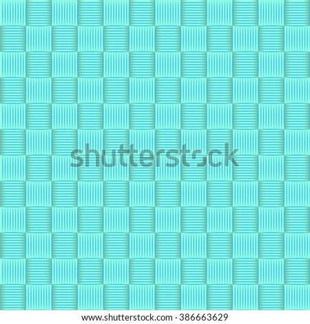 Abstract geometric blue square seamless pattern background, Vector illustration with swatches