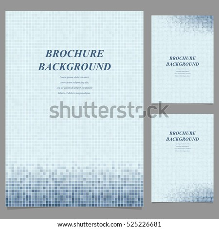 Abstract geometric brochure page template background design set