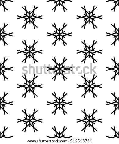 Abstract geometric christmas fashion pillow snowflakes pattern