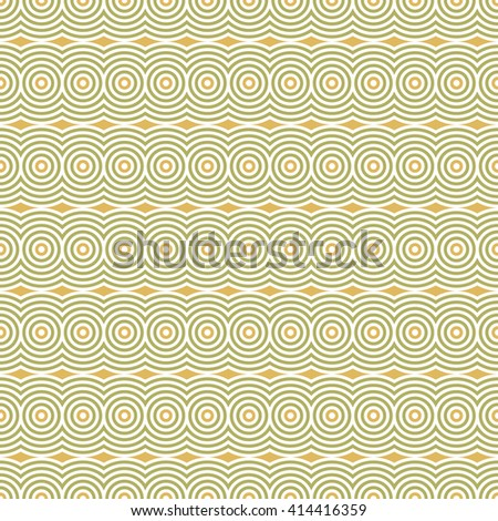Abstract geometric circles and waves wallpaper. Vector seamless doodle hand drawn pattern.