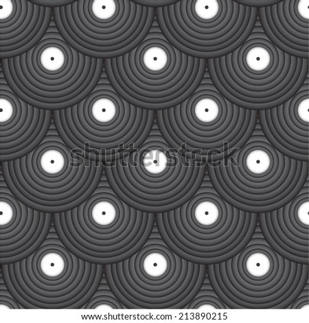 Abstract geometric circles seamless pattern.  - stock vector