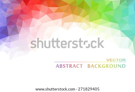 Abstract  geometric colorful background - stock vector